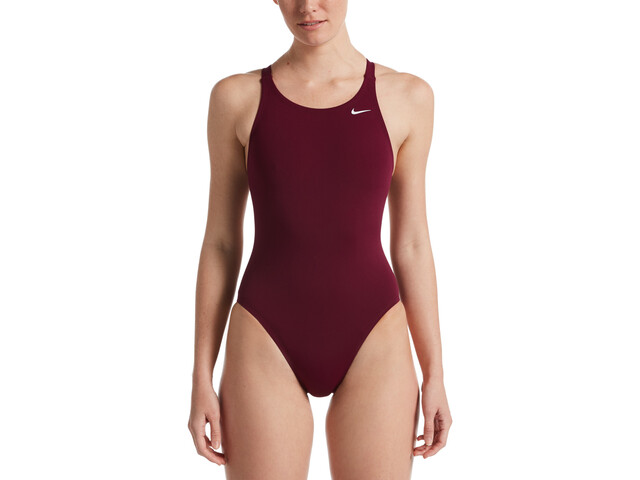 Nike Swim Hydrastrong Solids Fastback One Piece Badpak Dames, villain red